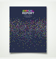 annual report colorful dot design background vector image