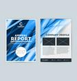 annual report cover design template flyer design vector image