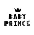 baby prince lettering vector image vector image