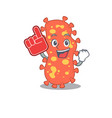 bacteroides presented in cartoon character design vector image vector image