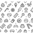 bakery signs seamless pattern background on a vector image vector image