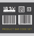 bar code icon set of modern flat barcode can be vector image
