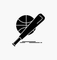 baseball basket ball game fun glyph icon isolated vector image vector image