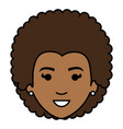 beautiful black woman head avatar character vector image vector image