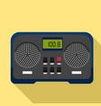 broadcast radio icon flat style vector image