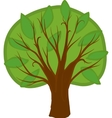 Cartoon deciduous tree Isolated vector image vector image