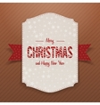 Christmas realistic big white Banner Template vector image