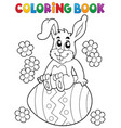 coloring book easter rabbit theme 5 vector image vector image