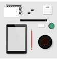 concept mockup office workplace vector image vector image