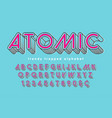 condensed display font popart design alphabet vector image