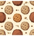 Cookies seamless pattern vector image