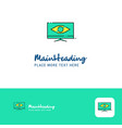 creative monitor logo design flat color logo vector image vector image