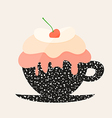Dessert in a Cup vector image