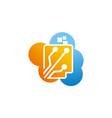 digital document cloud vector image vector image