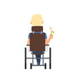 disabled man in wheelchair drinking cocktail vector image