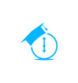 education time icon logo design element vector image