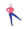 elderly senior man sport workout cartoon vector image vector image