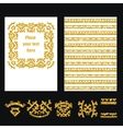 Ethnic Style Gold Brochure 1 vector image vector image