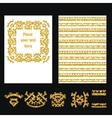 ethnic style gold brochure 1 vector image