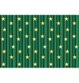 Green striped background with stars vector image