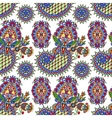 hand drawing ornate seamless flower paisley design vector image vector image