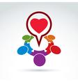Heart and society icon medical organization