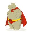 Hippo Superhero vector image