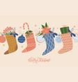 holiday merry christmas card hanging christmas vector image vector image