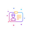 id card line icon user profile sign vector image