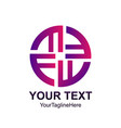 initial letter f logo template colorfull twist vector image vector image