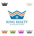 King estate Real estate logo design vector image vector image