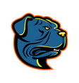 leavitt bulldog head mascot vector image