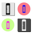 london telephone booth flat icon vector image