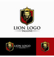 luxury lion king logo image vector image