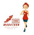 Marathon Running Woman Cartoon