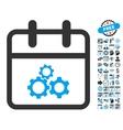 Mechanics Day Flat Icon With Bonus vector image vector image