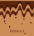 melted chocolate dripping sweet brown color vector image