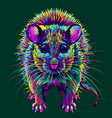 mouse abstract multi-colored neon mouse portrai vector image