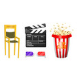 movie elements vintage cinema entertainment and vector image vector image