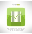Musical equalizer icon in modern flat design vector image vector image