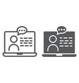 online consulting line and glyph icon vector image