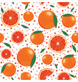 orange fruits and slice seamless pattern with vector image vector image