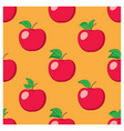 orange seamless background with red apples vector image