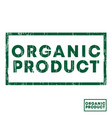 organic product stamp with grunge texture vector image vector image