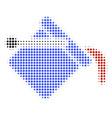 paint bucket halftone icon vector image
