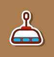 Paper sticker on stylish background cabin ski lift vector image