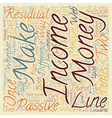 Passive And Residual On line Income Is There A vector image vector image