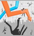 people and economic crisis vector image