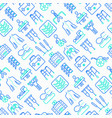 physiotherapy seamless pattern vector image vector image