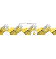 pineapple or ananas horizontal seamless pattern vector image vector image